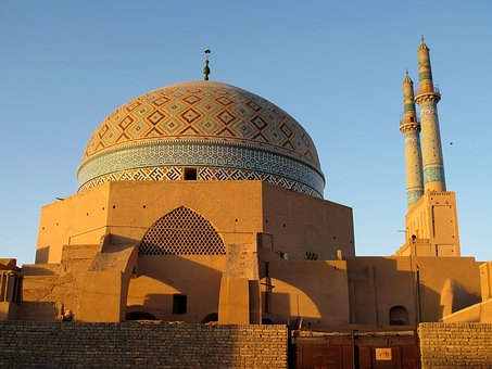 Iran, Mosque, Minarets
