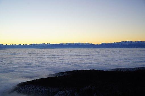 Morgenstimmung, Alpenblick, Mountains, Alpine