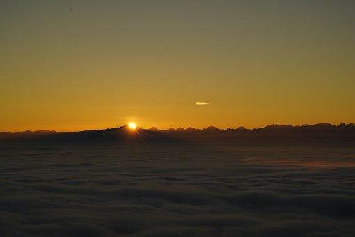 Sunrise, Tödi, Alpine, Mountains, Alps, Mountain Range