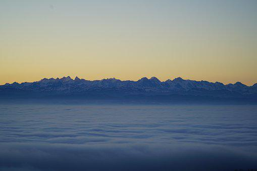 Alpine, Mountains, Alps, Mountain Range, Fog