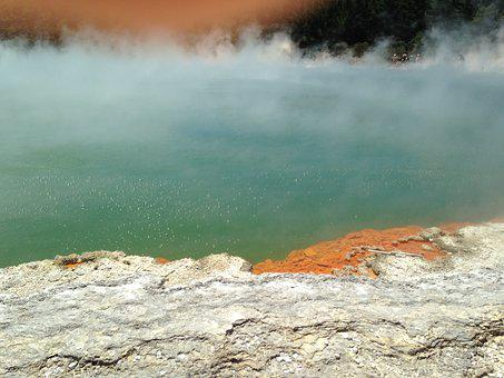 Rotorua, New Zealand, Champagne Pool, Geothermal