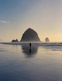 Ocean, Pacific, Nature, Symmetry, Rock, Island