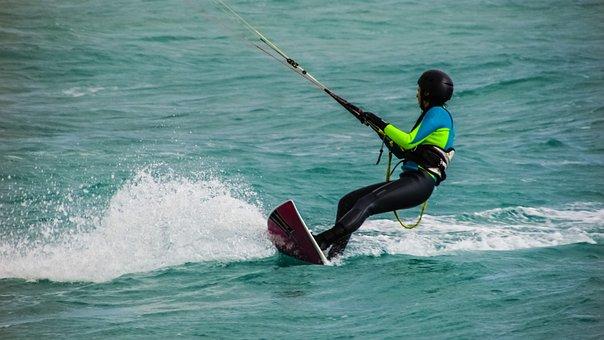 Kite Surfing, Sport, Surfing, Sea, Extreme, Surfer