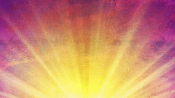 Sun Rays, Abstract, Purple, Blue, Color