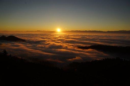Tödi, Sunrise, Alpine, Mountains, Alps, Mountain Range