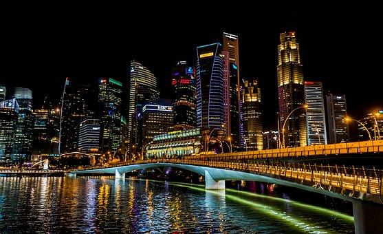 Singapore, City, Urban, Cityscape, Skyline, Downtown