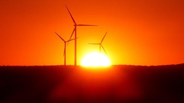 Wind Power Plant, Wind Park, Windräder, Wind Power
