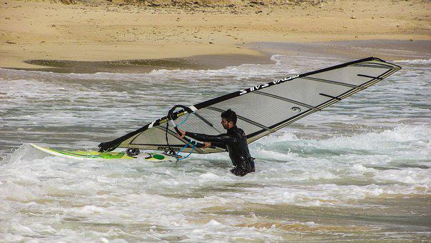 Wind Surfing, Sport, Extreme, Man, Sea, Surfer, Wave