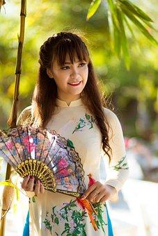 The Lunar New Year, Long Coat, Vietnam, Women, Ao Dai