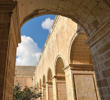 Malta, Monastery, Architecture, Holy, Religion, Arcades