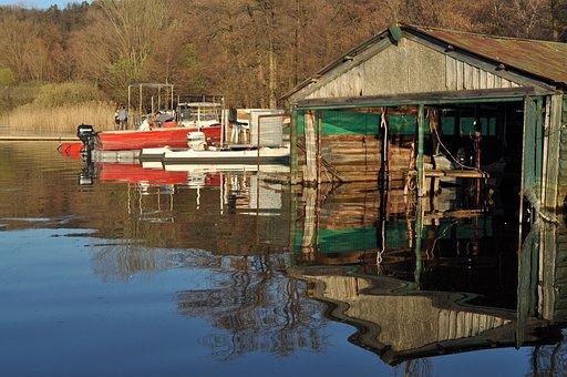 Corgeno, Vergiate, Lake, Boats