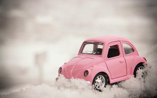 The Postcard, Gift, Valentine, For You, Bug, Vw, Car