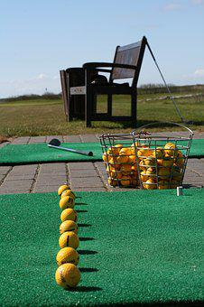 Golf, Driving Range, Line Up, Club, Swing, Practice
