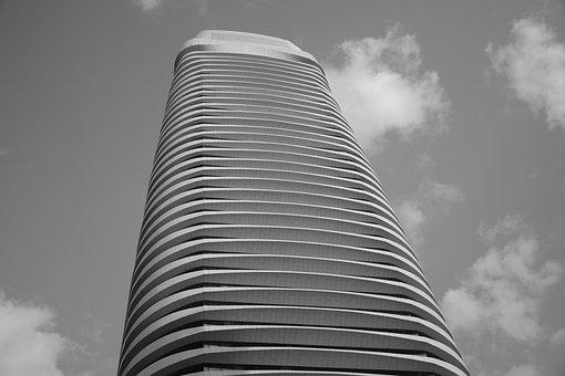 Light, Building, City, Guangzhou, Architecture