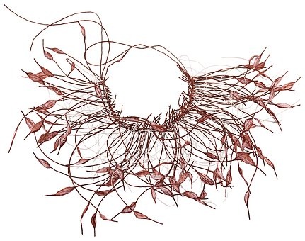 Paper Necklace, Paper Leaves, Handmade, Brown