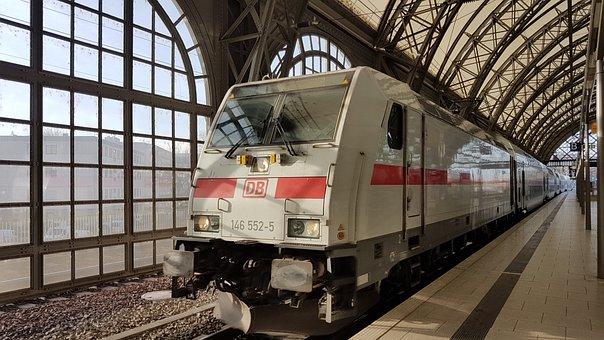 Dresden, Railway, Station, Ic, Hbf, Train, Transport