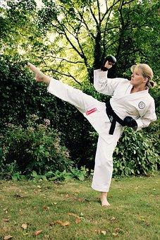 Karate, Kick, Sport, Martial, Fighter, Person, White