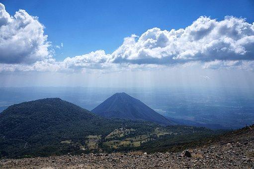 El Salvador, Izalco, Volcano, Lava, Landscape, Nature