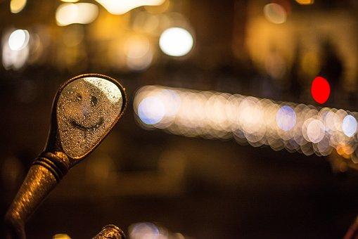 City, Bicycle, Bokeh, Lights, Color, Street, People