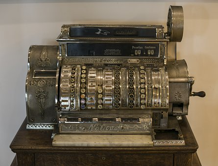 Machine Register, Machine, Vintage, Old, Antiques