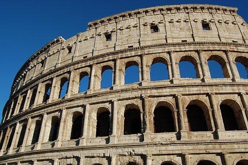 Colosseum, Monuments, Ancient Rome, Roman Coliseum