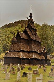Stave Church, Norway, Church, Borgund, Wooden Church