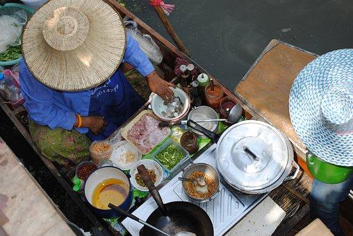 Food Stall, Thailand, Street Food, Market, Eat