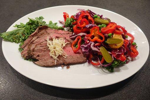 Tenderloin, Beef, Beef Tenderloin, Horseradish, Salad
