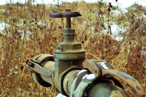 Faucet, Valve, Broken, Lapsed, Stainless, Water, Hahn