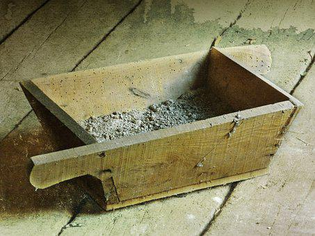 Drawer, Mason, Mortar, Old, Vintage, Tool