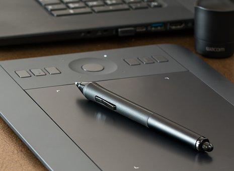 Graphics Tablet, Wacom, Photoshop, Design, Digital
