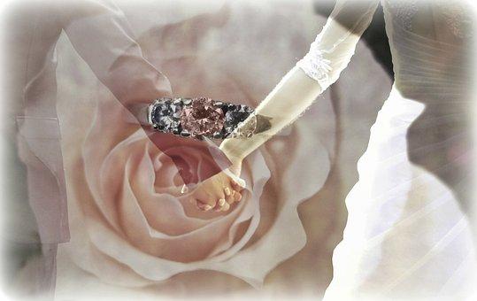 Texture, Background, Wedding, Bride And Groom