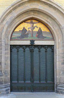 These Door, Castle Church, Lutherstadt, Wittenberg