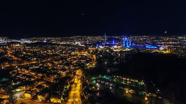 City, Night, Lights, Cityscape, Urban, Building