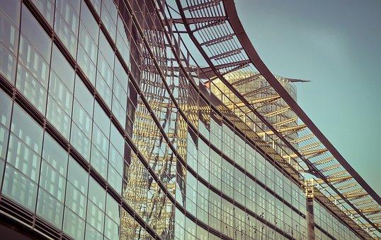 Architecture, Mirroring, Facade, Modern, Glass