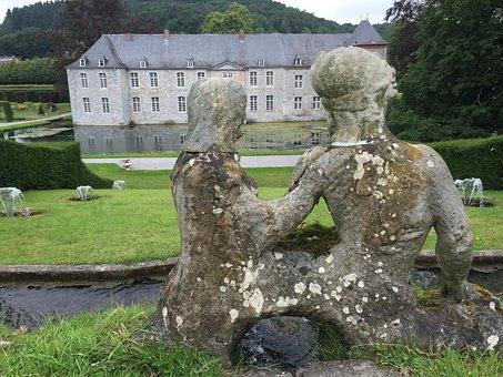 Annevoi, Castle, Green, Belgium, Namur, Statue