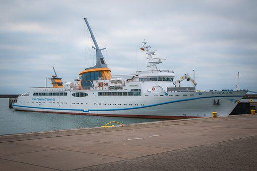 Ms Helgoland, Ferry, Boot, Helgoland, Ship, Water