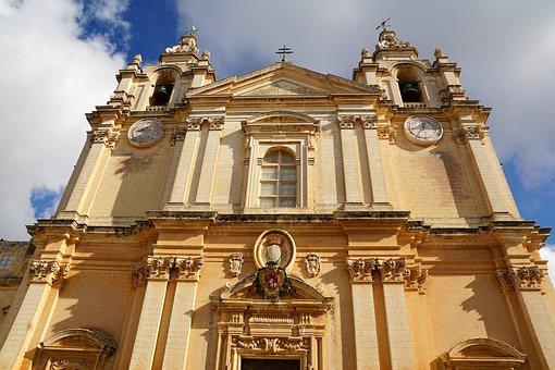 Church, Malta, Mdina, Architecture, Cathedral