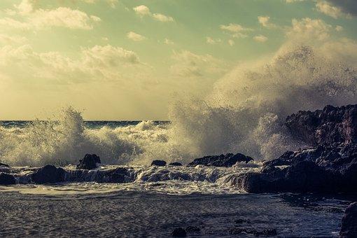 Wave, Crashing, Coast, Winter, Water, Nature, Crash