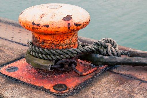 Bollard, Create, Boat, Port, Fix, Pier, Orange, Occupy