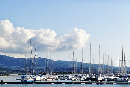 Port Boats Details, Landscape, Lefkada, Boat, Port, Sea