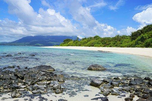 Rocky Beach, Natuna Indonesia, Deserted Island