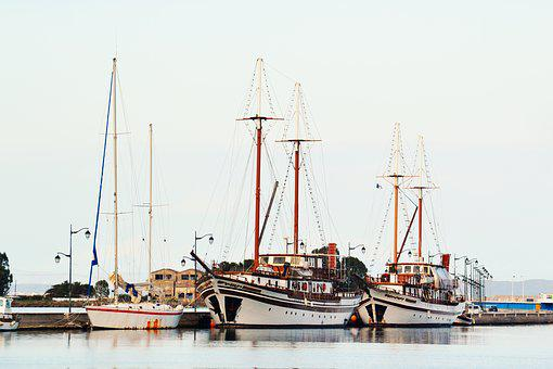 Boats, Port, Sea, Ship, Water, Vessel, Transportation