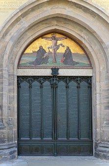 These Door, Castle Church, Lutherstadt, Wittenberg