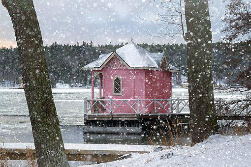 Turku, Ruissalo, Winter, Snow Rain, Beach