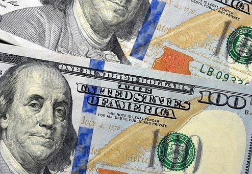 Money, Currency, 100 Dollar Bill, Cash, Wealth