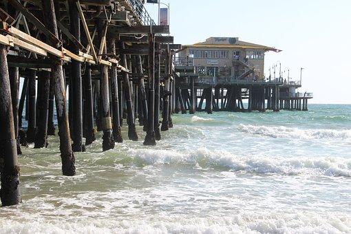Usa, Santa Monica Beach, Beach, Santa Monica