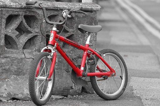 Training, Bike, Toy, Biking, Red, Model, Pedal, Fun