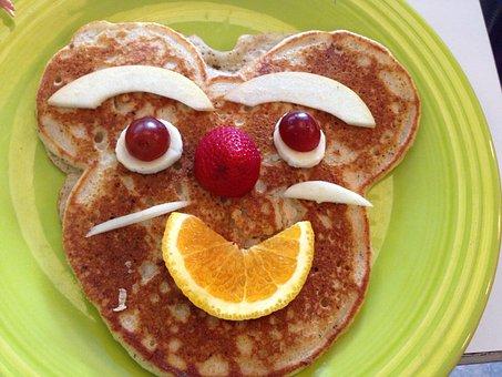 Pancake, Face, Breakfast, Brunch, Food, Funny