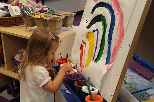 Rainbow, Art, Paint, Artistic, Child, Kid, Preschool